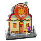 Magasin de beignes illuminée et animé Holiday Living, Carole Towne, multicolore