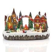 Village du Père Noël Holiday Living illuminé et animé, Carole Towne, multicolore