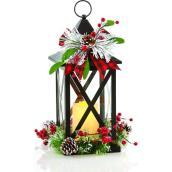Lanterne pour table Holiday Living avec chandelle DEL, noir, paquet de 1