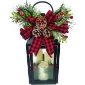 Lanterne Holiday Living avec 3 chandelles DEL, noir, paquet de 1