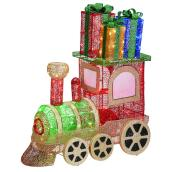 Holiday Living 42-in Lighted Train Decoration with Gift Boxes