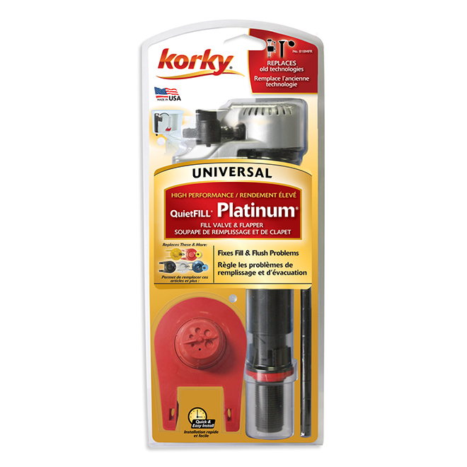 Korky QuietFill Universal Toilet Repair Kit - Anti-Siphon - 8 1/2-in to 14-in Fill Valve - 2-in dia