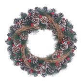 Pinecone and Rattan Wreath - 20''