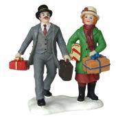Personnages avec cadeaux, polyrésine, 2,3