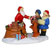 "Polyresin Santa Claus with Gifts - 3.2"" x 2.4"" x 2.3"""