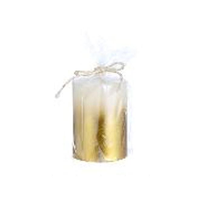 """Pillar Candle - 3"""" X 4"""" - Gold"""