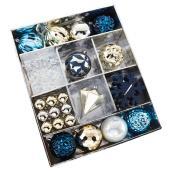 Tree Ornament Kit - Gold/Blue - 30/PK