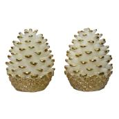 Holiday Candle - Pinecone - 2/PK