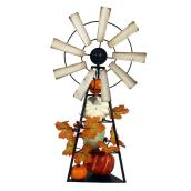 Holiday Living 16-in Windmill Decoration with Pumpkins and Leaves