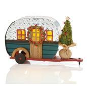 Caravane illuminée Holiday Living, vert et argent, 1/paquet