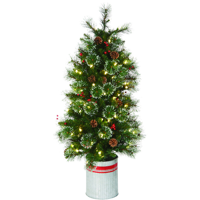 Holiday Living 4-ft Pre-lit Artificial Christmas Tree with 100 Constant Warm White Lights