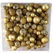 Ball Ornament Garland - 6' - Plastic - Gold