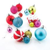 Mixed Tree Ornaments - Shatterproof Plastic - 100-Pack