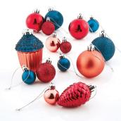 Mixed Tree Ornaments - Plastic - Multicolour - Set of 100