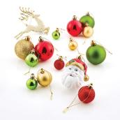 Christmas Tree Ornaments - Plastic - Gold/Red/Green - Set of 100