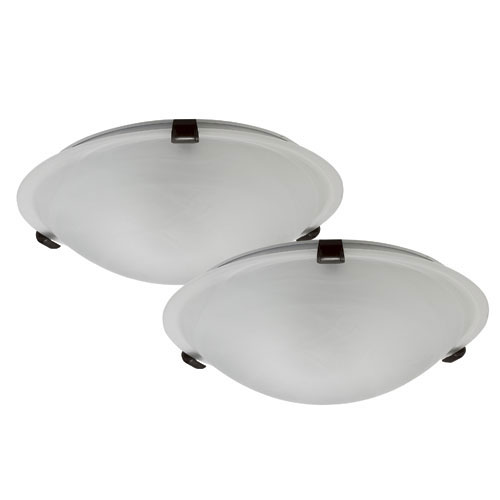 Set of 2 contemporary flushmounts