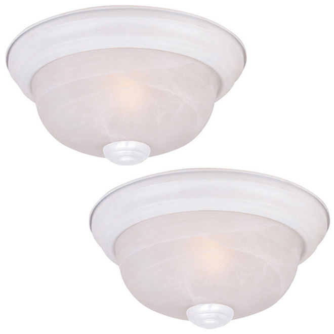 set of 2 ceiling fixtures rona