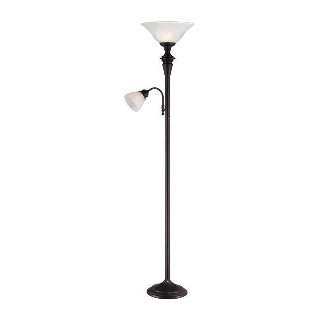"Torchiere Lamp 71"" - Oiled Bronze"