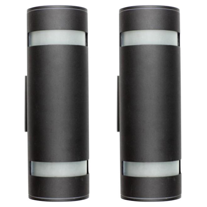 Uberhaus 2-Light Outdoor Wall Sconce - Black - 2 Pack WA0708BK-2PK