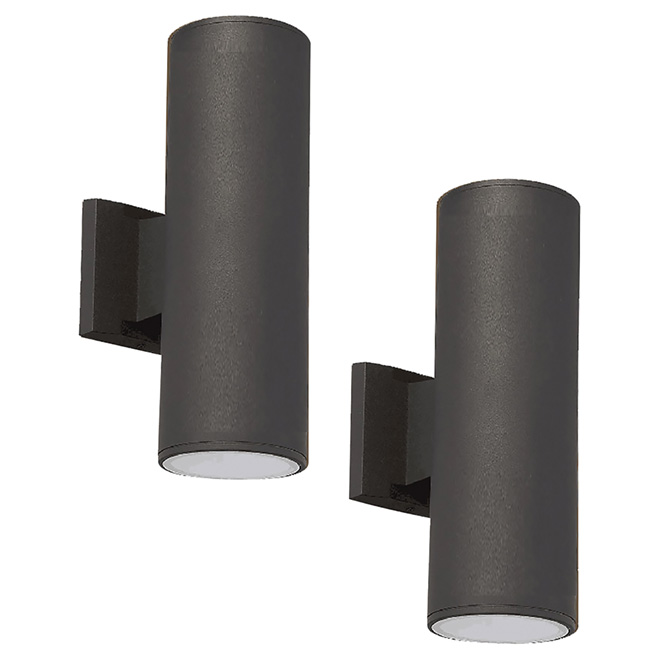 Outdoor Wall Light - 100 W - Black - 2/Pack