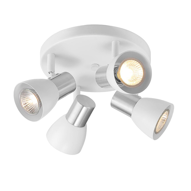Project Source Ceiling Light 4 Lights Metal Glass White Brushed Nickel Sm D10wh 4fm Rona