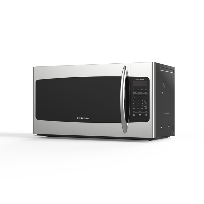 Hisense Over-the-Range Microwave - 1.7 cu. ft. - 1000 W - Steel and Black