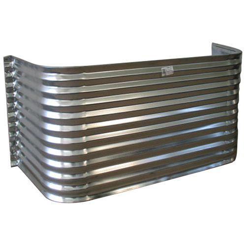 "Corrugated Steel Window Well - 66"" x 22"" x 22"""