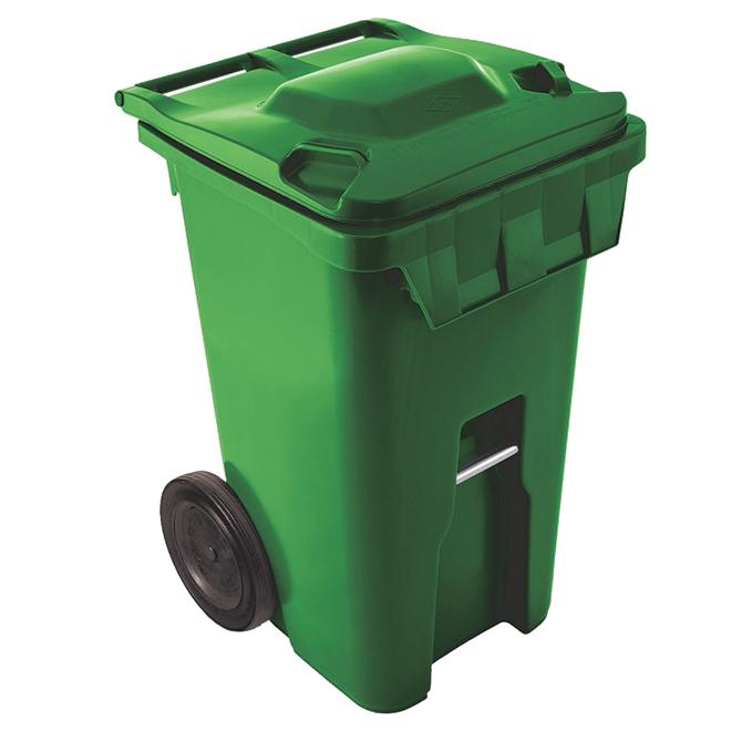 Wheeled Bin - Plastic - 240 L - Green
