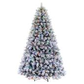 Illuminated Tree - 7.5' - 600 Lights - Albany Fir - Flock