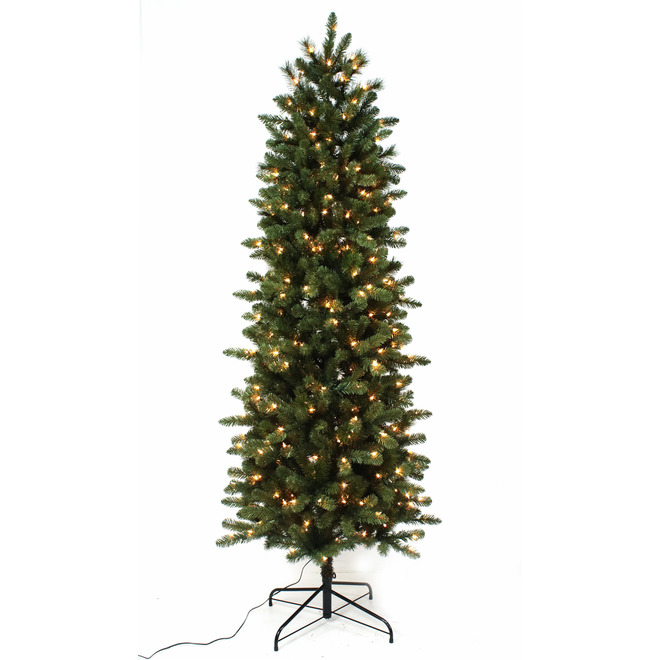 Holiday Living Sonoma 7 Ft Prelit Pencil Tree 300 Incandescent Clear Lights 857 Tips W14x0413 Rona