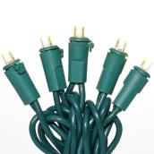 Set of 50 LED Lights - Green Wire - 5.1 m - Warm White