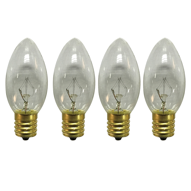 Replacement Incandescent Bulb - C9 - 7 W - 25/PK - Clear