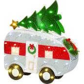 Holiday Living 31-in Multicolour Lighted Trailer