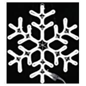 Flocon de neige, 546 lumières DEL, blanc brillant, 24''