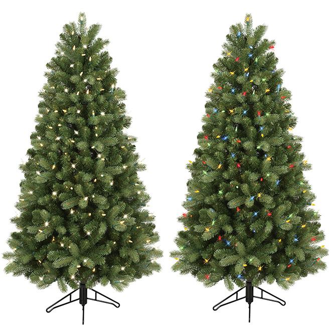 Colorado Spruce Pre-Lit Tree - 5' - Plastic - Green