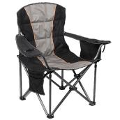 Camping Chair - Cup Holder - Cooler Bag - Black and Grey
