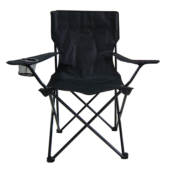 Style Selections Folding Event Chair - Polyester - 31.5-in x 35.5-in - Black
