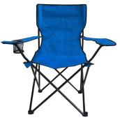 Style Selections Folding Camping Chair - Steel/Polyester - Blue