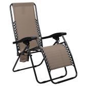Chaise longue de patio « Relax » avec porte-gobelet, tige maïs