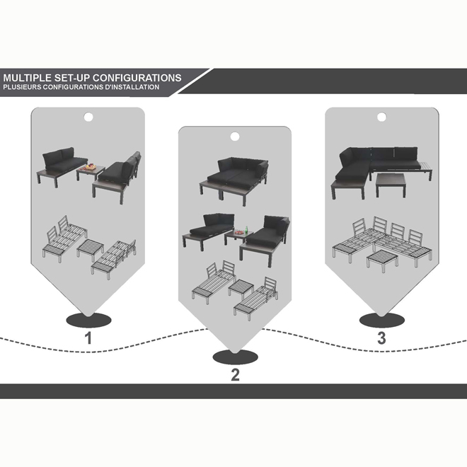 Style Selections Maven Outdoor Furniture - Aluminum - 2 Pieces - Black