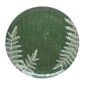 Allen + Roth Salad Plate - 9 in x  0.75 in - Melamine - Green