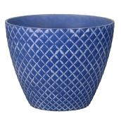 "Style Selections Planter - Pineapple - 15"" - Blue"