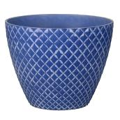 """Style Selections Planter - Pineapple - 11"""" - Blue"""