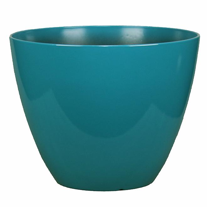 Pot d'extérieur Style Selections, polypropylène, 15 po, sarcelle