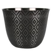 Allen + Roth Resin Planter - Indoor Outdoor - 11.2-in - Black