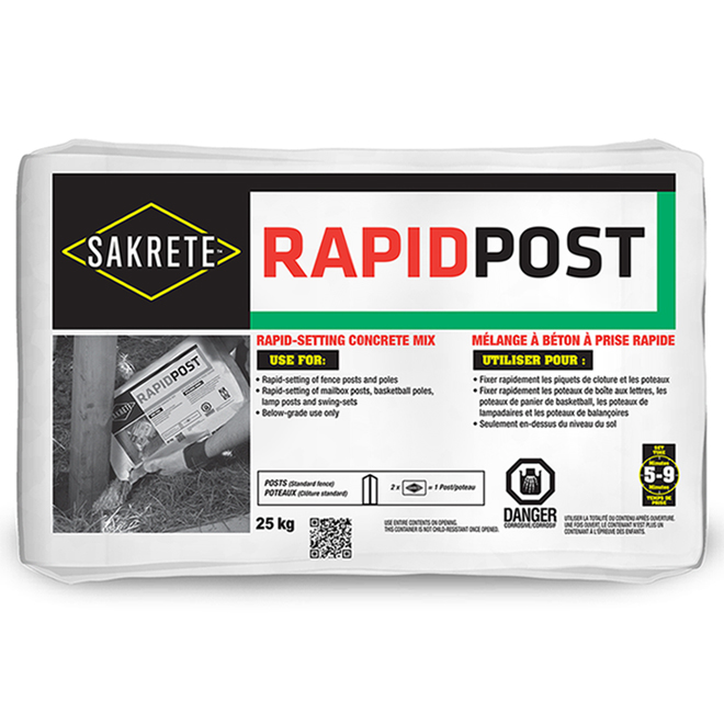 Fast Setting Concrete Mix - RAPIDPOST - 25 kg