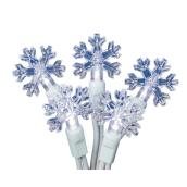 Holiday Living 50-Light Set - Snowflakes - Cool White