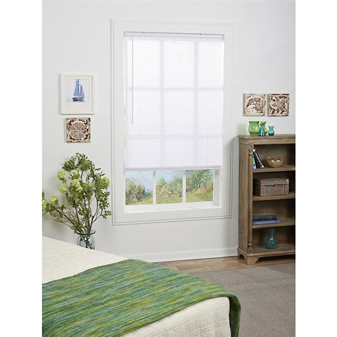 Project Source Cordless Horizontal Blind - 1-in x 48-in x 45-in - White