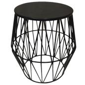 Allen + Roth City Oasis Garden Stool - 18-in - Black