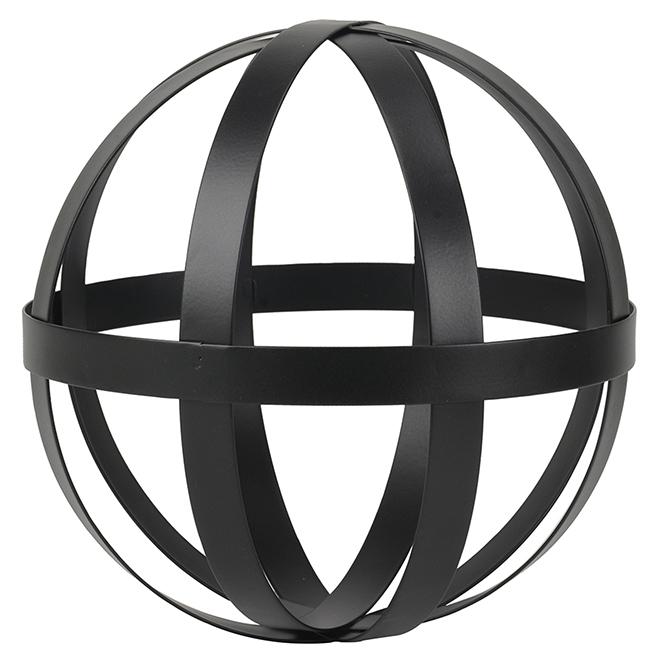 """Sphère décorative à anneaux, 8,75"""""""", noir"""